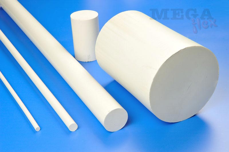 Rigid Precision-Ground 25% Glass Filled PTFE Rod with Tight Tolerances