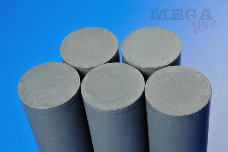 Rigid 15% Glass and 3% Molybdenum-Disulphide Filled PTFE Rod Extruded Lengths