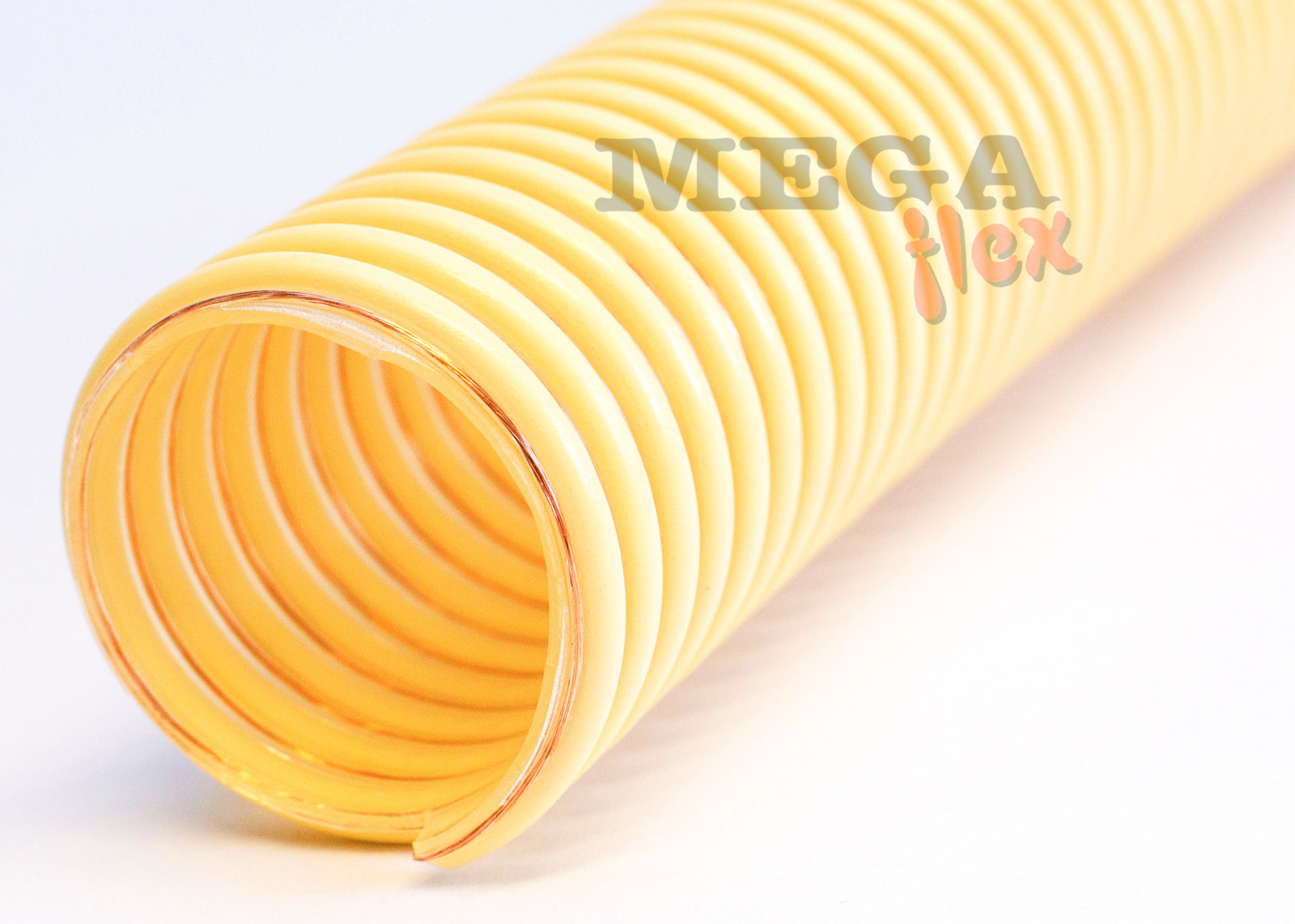Zeus PU Food AS - Antistatic Ether Polyurethane Ducting Reinforced with Rigid PVC Helix (Heavy Duty)