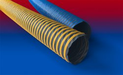 Coloured exhaust gas hose PROTAPE® TPE 325 WEAR STRIP