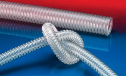 Antistatic foodstuff hose AIRDUC® PUR-INOX 351 FOOD-AS