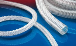Antistatic foodstuff hose AIRDUC® PUR-INOX 355 FOOD-AS