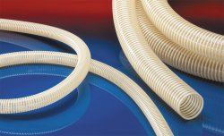 Antistatic suction hose NORPLAST® PVC-C 384 AS