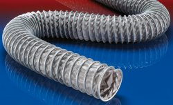 Flame retardant suction hose CP PVC 465