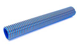 Apollo SE - Blue with Red Helix Low Temperature PVC Suction and Delivery Hose Reinforced with Rigid PVC Helix (Medium Duty)
