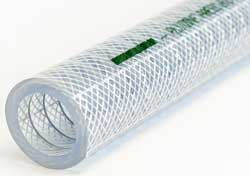 Plutone Press - Clear PVC S&D Hose Reinforced with Steel Wire Helix and High Tenacity Polyester Yarn (Biovinyl)