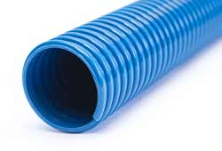 Eolo SE - Blue Plasticised PVC Ducting Reinforced with Rigid PVC Helix (Medium Duty) for Low Temperature Air, Fumes, Gas