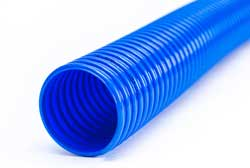 Eolo SL - Blue PVC Ducting with Rigid PVC Helix (Light Duty) for Air Conditioning, Fumes, Gas, Aeration