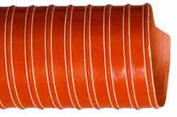 FlexFlyte L8 Lightweight Double Ply Silicone-coated Impregnated Glass Fabric Ducting with High Tensile Spring Steel Wire Helix