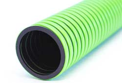 HERCULES - Black with Green Spiral Heavy Duty EPDM Rubber Suction and Delivery Hose Reinforced with Rigid Polyethylene Helix (Heavy Duty)