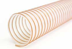 NEXT 07 - Clear Ester Polyurethane Ducting Reinforced with TPU-coated Coppered Steel Wire Helix (Medium Duty)