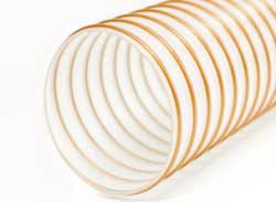 NEXT 09 - Clear Ester Polyurethane Ducting Reinforced with TPU-coated Coppered Steel Wire Helix (Heavy Duty)