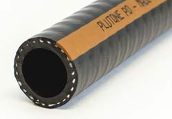 Plutone PO - Black with Red/Brown Stripe Special PVC/NBR Wall Oil Suction and Delivery Hose Reinforced with Polyester Yarn and an Harmonic Steel Wire Helix