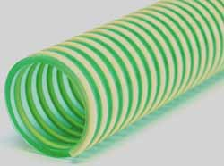 Saturno L - General Purpose Green Tint PVC Lightweight Suction and Delivery Hose With Rigid PVC Helix
