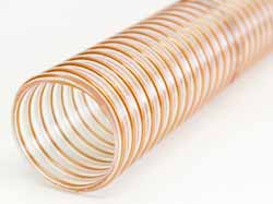 Vulcano PU Stone - Ultra-Heavy Duty Clear Ester Polyurethane Ducting with PU-coated Coppered Steel Wire Helix (Heavy Duty)