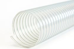 Ether Polyurethane Ducting with Zinc Coated Steel Wire Helix