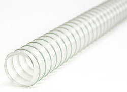 Clear Ether Polyurethane Ducting with Steel Spiral (Food Grade)