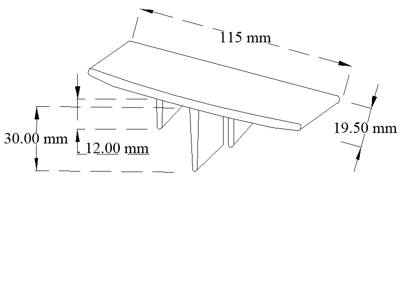 Plastic corner sections for caravan window frames