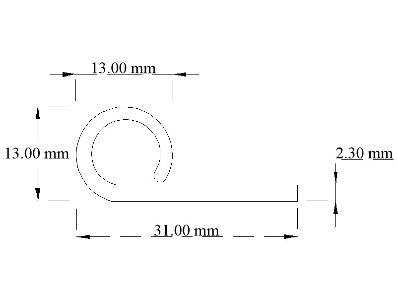 EPDM wrap-over door seal section