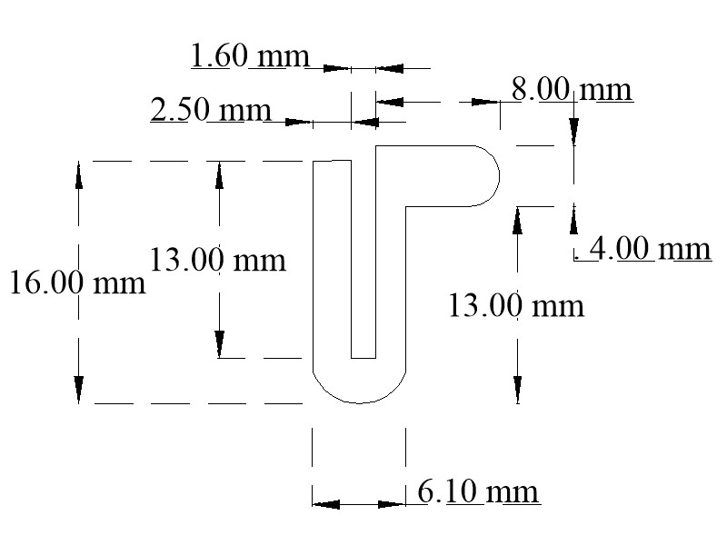 EPDM channel with flange