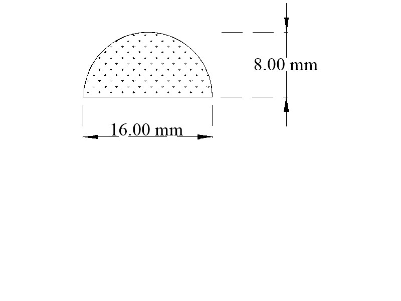 Expanded Neoprene / sponge rubber half round section