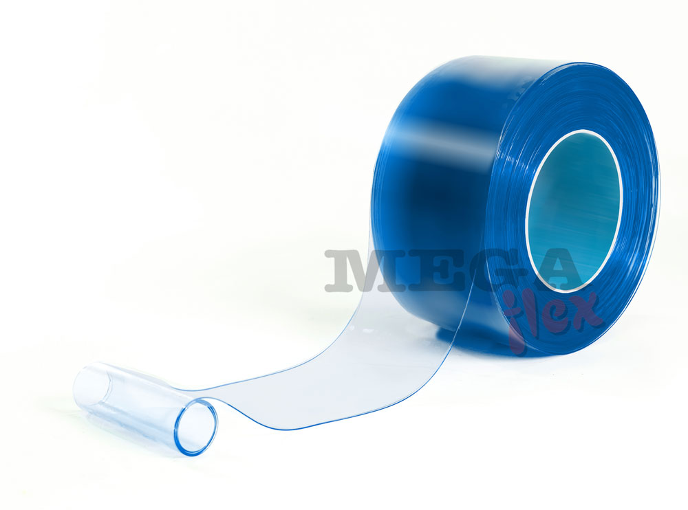 200mm wide x 2mm thick Clear Microbe Resistant PVC Strip in 50m rolls
