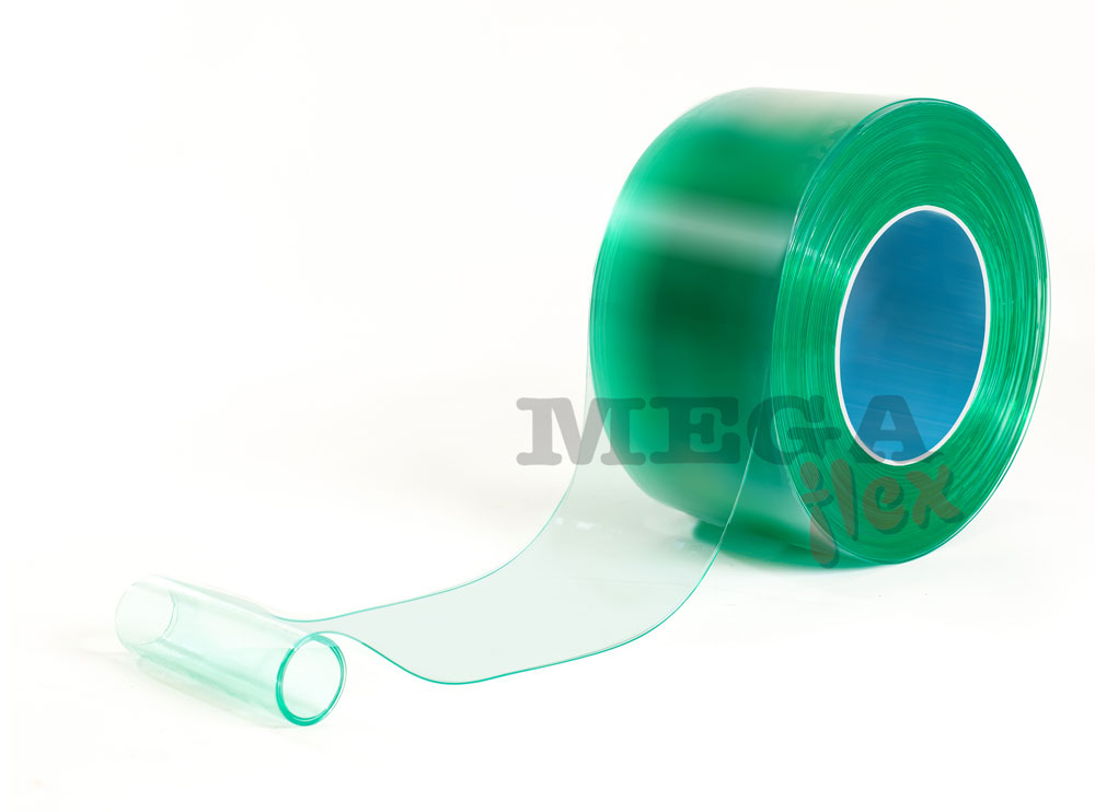 200mm wide x 2mm thick Green Tinted Antistatic PVC Strip in 50m rolls