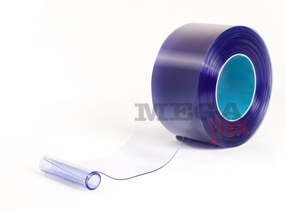 470mm wide x 0.4mm thick Clear Standard Grade PVC Strip in 50m rolls