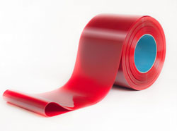 300mm wide x 2mm thick Red Welding PVC Strip in 50m rolls
